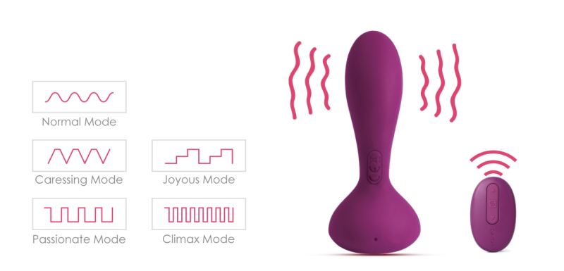 Intelligent remote control anal toy
